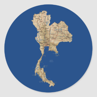 Thailand Map Sticker