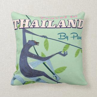Thailand Monkey vintage travel print Cushion