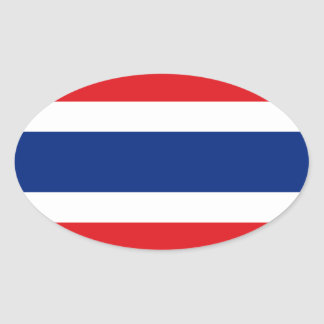 Thailand Oval Flag Sticker