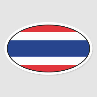 Thailand Oval Flag Sticker