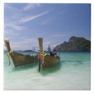 Thailand, Phi Phi Don Island, Yong Kasem beach, Large Square Tile