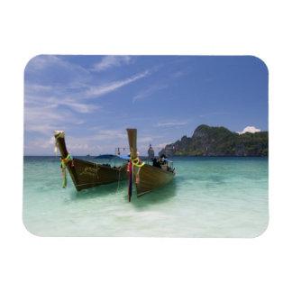 Thailand, Phi Phi Don Island, Yong Kasem beach, Rectangular Photo Magnet