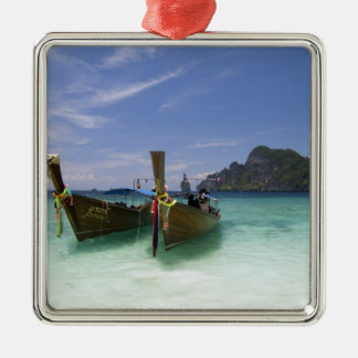 Thailand, Phi Phi Don Island, Yong Kasem beach, Silver-Colored Square Decoration