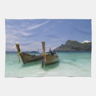 Thailand, Phi Phi Don Island, Yong Kasem beach, Tea Towel