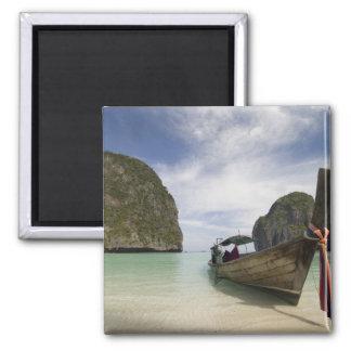 Thailand, Phi Phi Lay Island, Maya Bay. Square Magnet