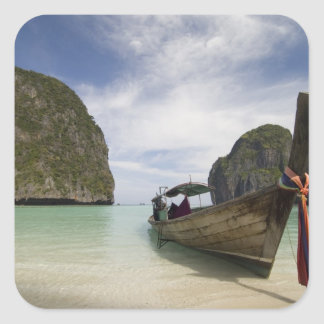 Thailand, Phi Phi Lay Island, Maya Bay. Square Sticker