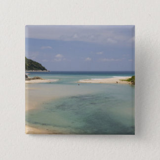 Thailand, Phuket, Nai Harn beach. 15 Cm Square Badge