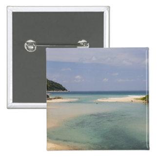 Thailand, Phuket, Nai Harn beach. 15 Cm Square Badge