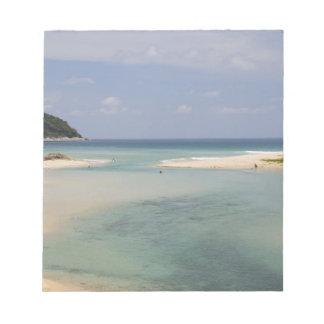 Thailand, Phuket, Nai Harn beach. Notepad