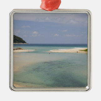 Thailand, Phuket, Nai Harn beach. Silver-Colored Square Decoration