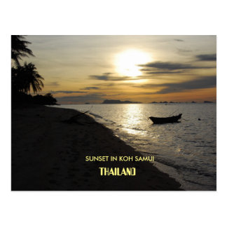 Thailand Sunset in Koh Samui island Postcard