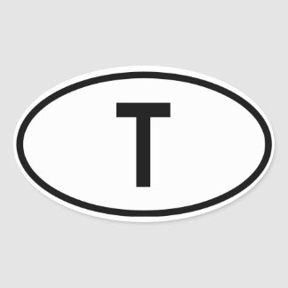 "Thailand ""T"" Oval Sticker"