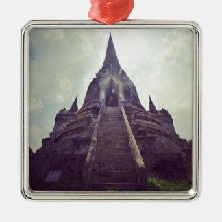 Thailand temple Silver-Colored square decoration