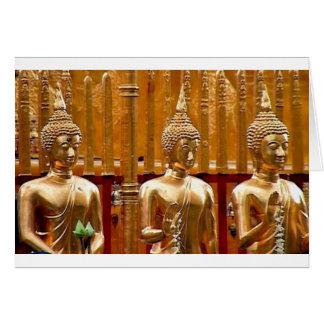 Thailand Three Standing Buddhas Card