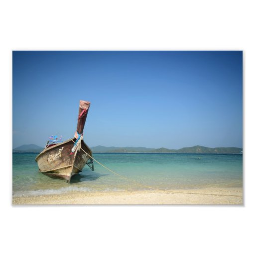 thailand traditional long transportation boat photo