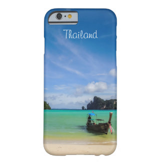 Thailand Travel Beach Photo with Fishing Boat Barely There iPhone 6 Case