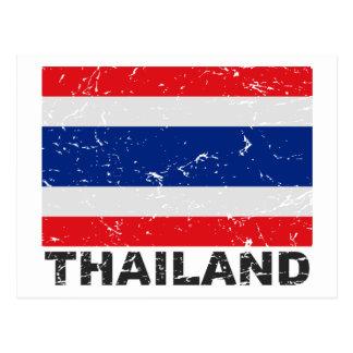 Thailand Vintage Flag Postcard