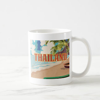 Thailand Vintage Travel Poster Coffee Mug