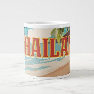 Thailand Vintage Travel Poster Large Coffee Mug