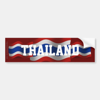 Thailand Waving Flag Bumper Sticker