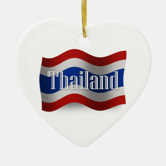Thailand Waving Flag Christmas Ornament