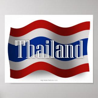 Thailand Waving Flag Poster