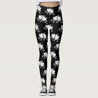Thalia and Melpomene (Laughing and Weeping Mask) Leggings