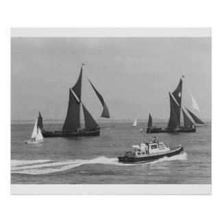 Thames Barge Race 1975,  Official launch Poster