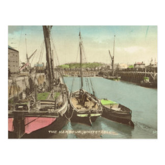 Thames barges in Whitstable harbour Postcard