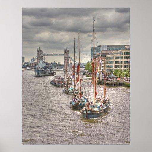 Thames Barges Tower Bridge 2012 Print
