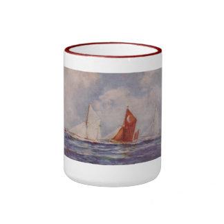 Thames barges Veronica Sirdar Sara Ringer Coffee Mug