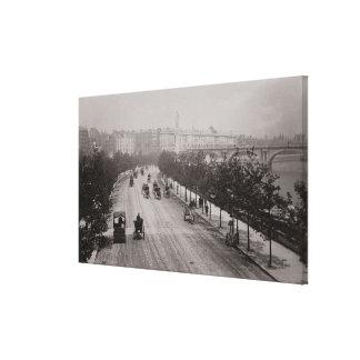 Thames Embankment (sepia photo) Canvas Print
