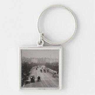 Thames Embankment (sepia photo) Key Ring