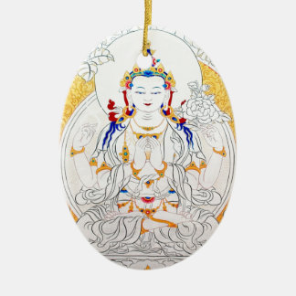 THANGKA PAINTING TIBET ART CHRISTMAS ORNAMENT