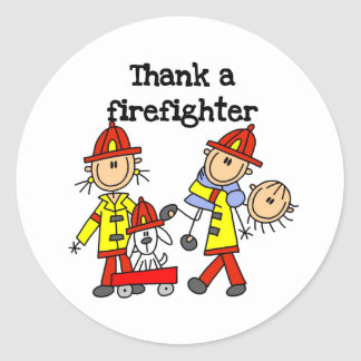 Thank a Firefighter Classic Round Sticker