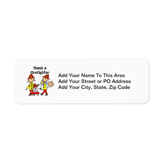 Thank a Firefighter T-shirts and Gifts Return Address Label