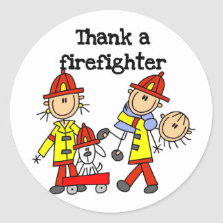 Thank a Firefighter Tshirts and Gifts Classic Round Sticker