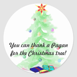 Thank a Pagan Classic Round Sticker