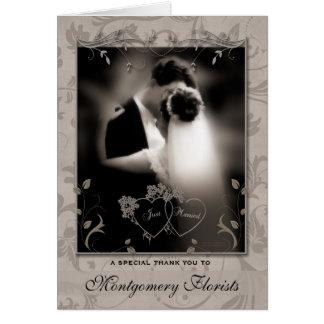 Thank a Service Provider Wedding Thank You Card