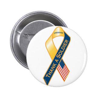 Thank A Soldier 6 Cm Round Badge