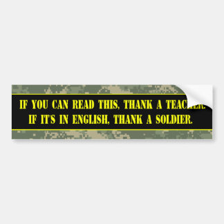 Thank a Soldier Bumper Stickers