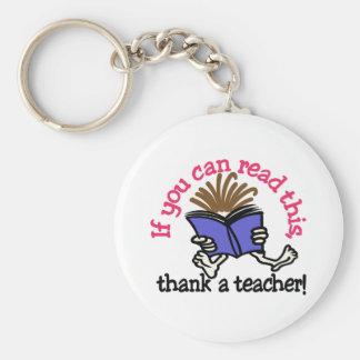 Thank A Teacher Key Ring
