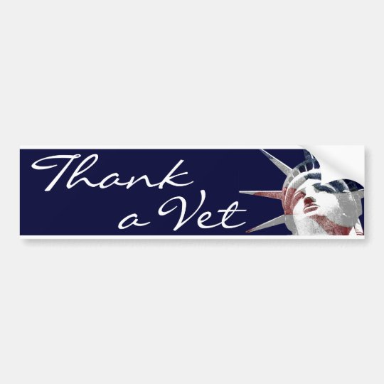 Thank a Vet Bumper Sticker