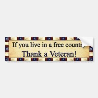 Thank a Veteran Bumper Sticker