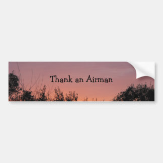Thank an Airman Car Bumper Sticker