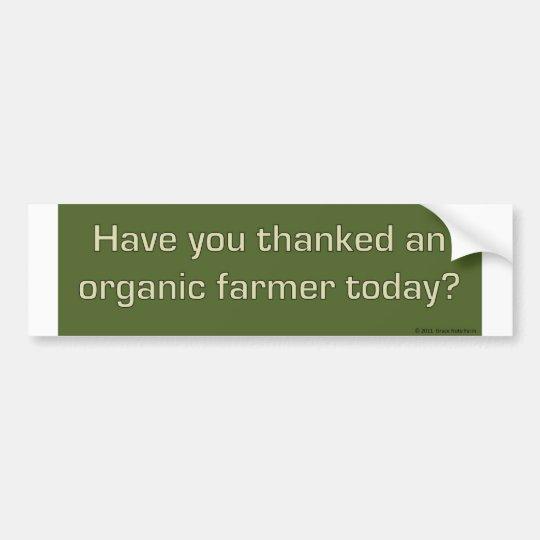Thank an organic farmer bumper sticker