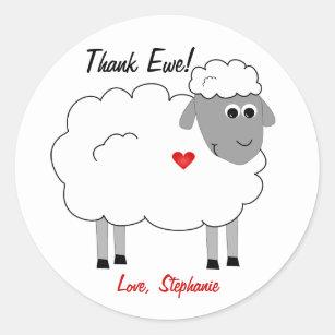 Thank Ewe Sheep Thanks Sticker