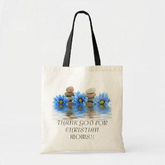 THANK GOD FOR CHRISTIAN MOMS Religious Mother Tote Bag
