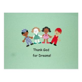 Thank God for Dreams! Postcard