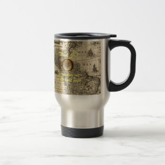 Thank God for Guiding Me Map Stainless Steel Travel Mug